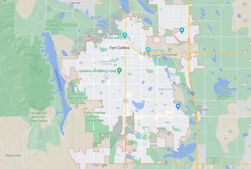 Fort Collins Real Estate Map