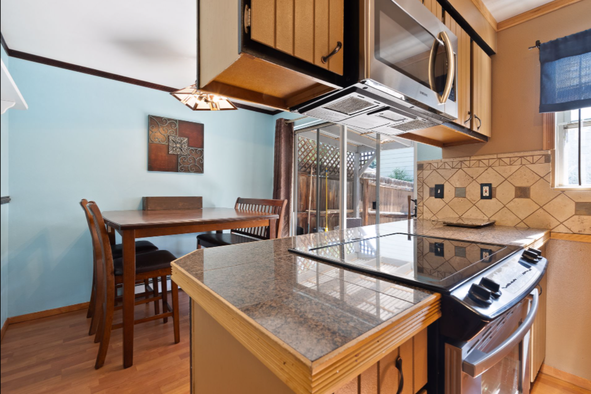 Kitchen in home for sale